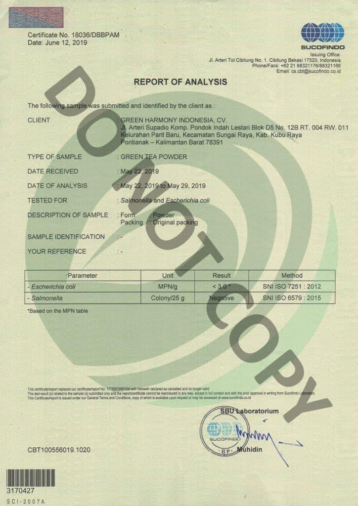 Kratom Lab Tested - Laboratory Result - Green Harmony Indonesia - kratom vendors that lab tested kratom -