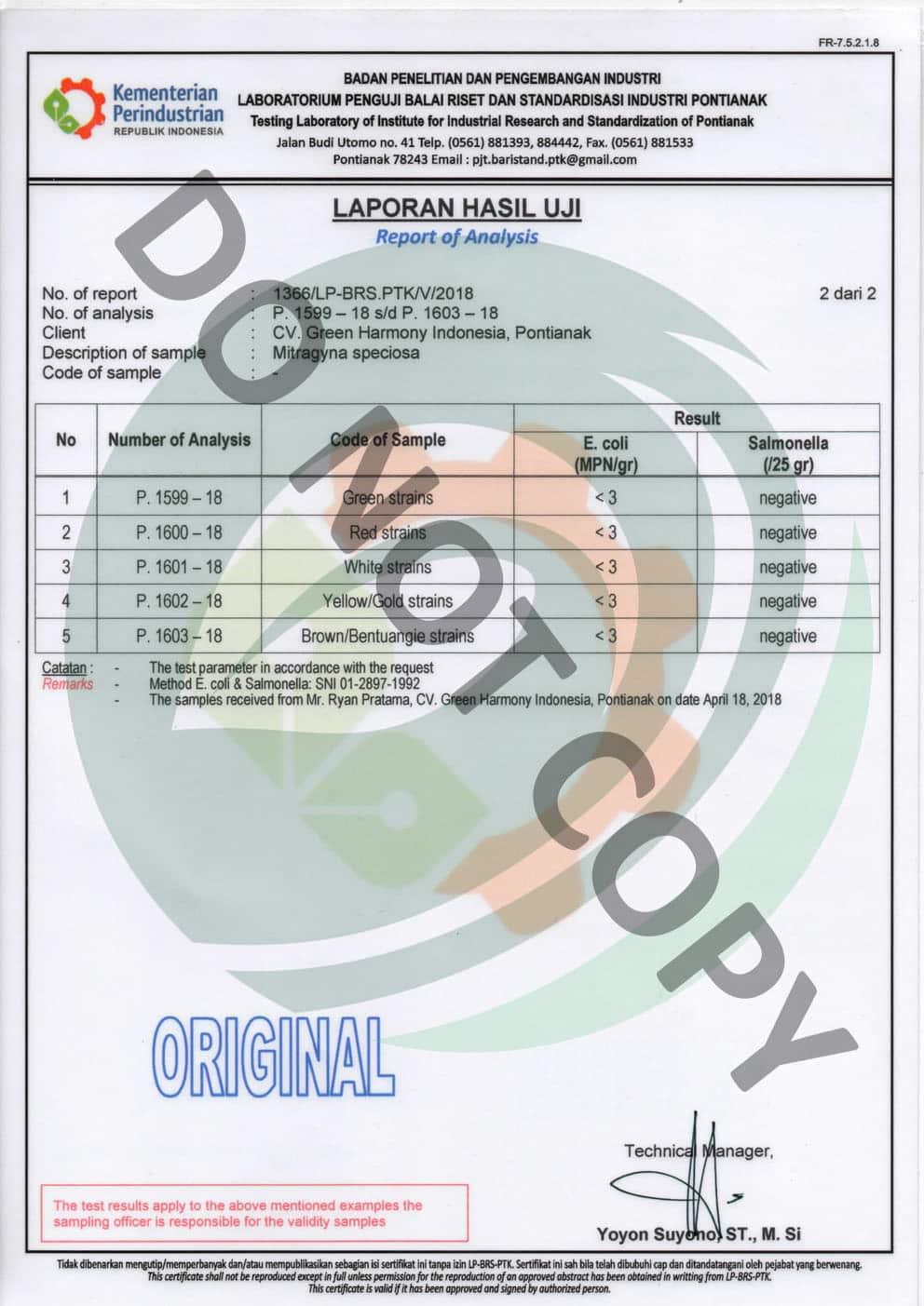 Lab Tested Kratom Powder - Green Harmony Indonesia Kratom Vendor - kratom vendors that lab tested kratom