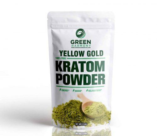 Yellow Gold Kratom Powder - Green Harmony Indonesia Kratom Vendor